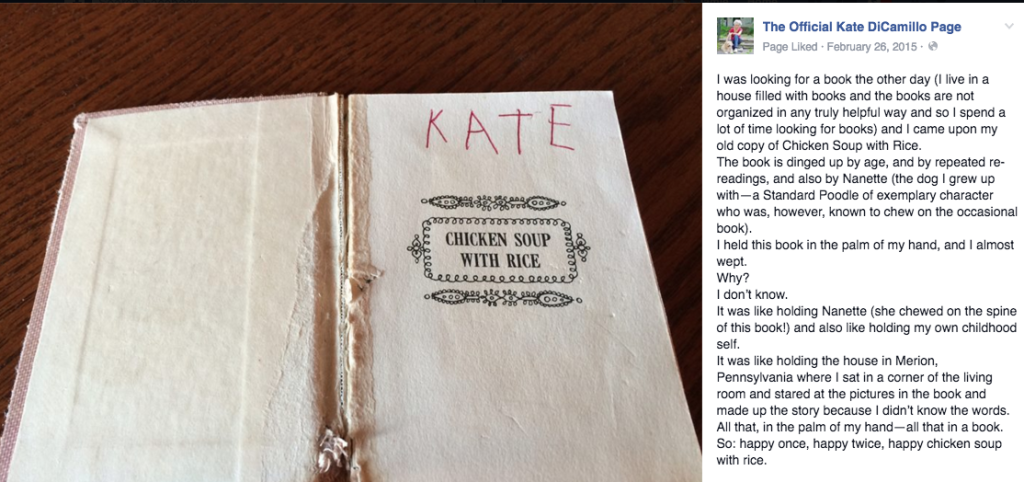 Kate on Books via Facebook